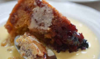 Blackberry and Apple Steamed Pudding