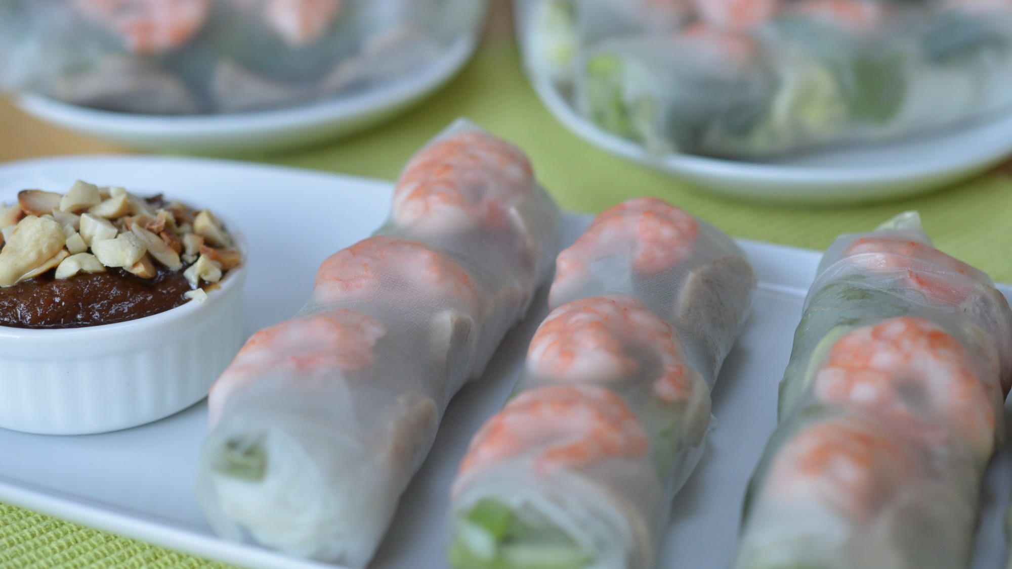 Swiss Chard And Spicy Peanut Sauce Spring Rolls Recipe — Dishmaps