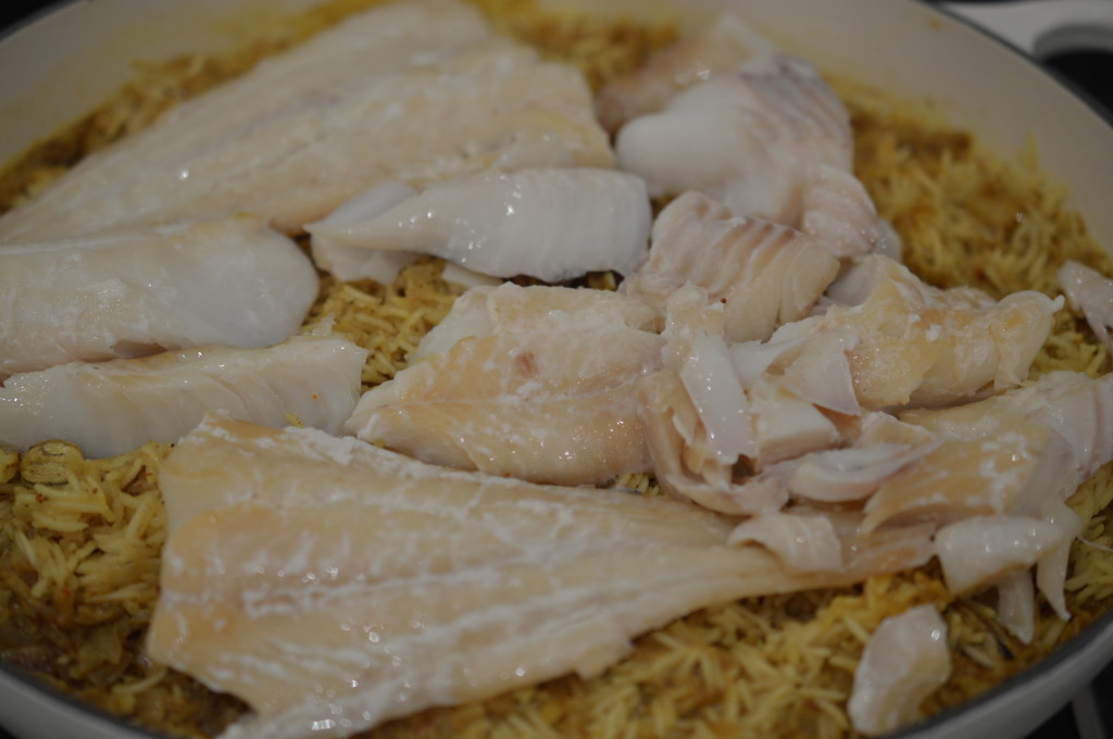 Kedgeree add fish