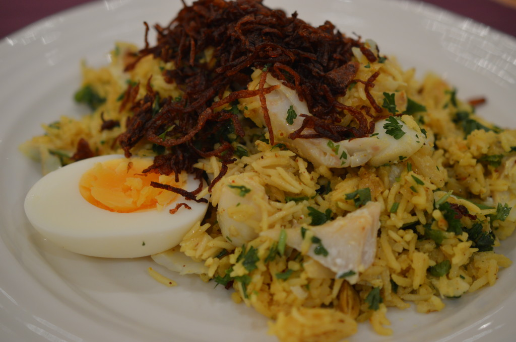Kedgeree served